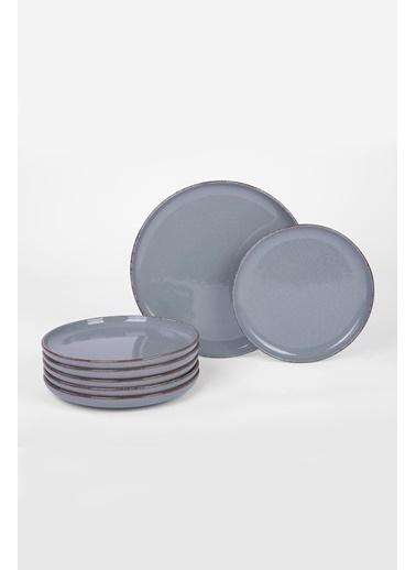 Kütahya Porselen Mood 8 Parça Pasta Seti Mavi Mavi